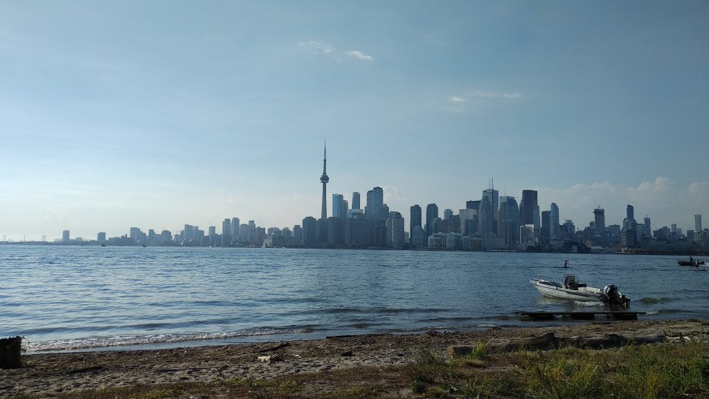 View of the Toronto skyline from Toronto Island